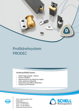 PRODEC profile turning tools