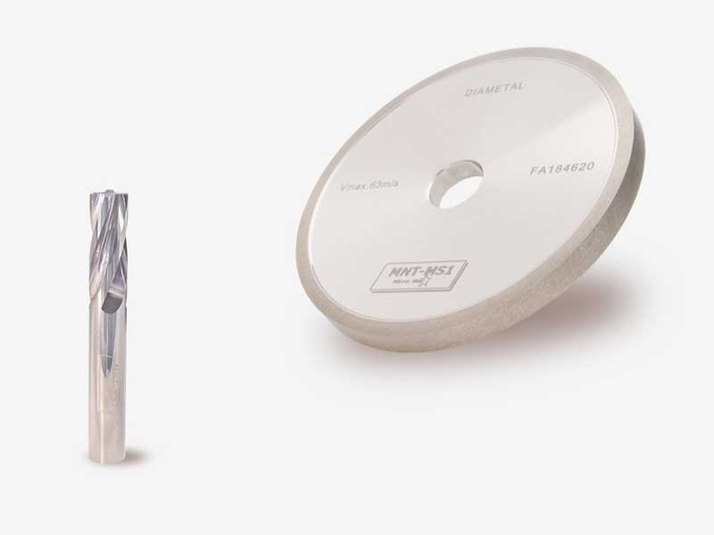 MNT diamond grinding wheel from SCHELL for grooving solid carbide milling cutters